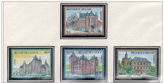 Belgium Castles - 4vals - 1985 - Laarne - Trazegnies - Turnhout - Chateaux - Schloesser - photo
