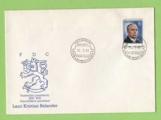 Finland 1983 Centenary Of Lauri Kristian Relander (president) First Day Cover photo