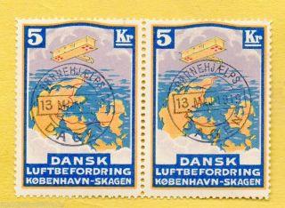 Denmark 1919 Dansk Luftbefordring,  Koebenhavn - Skagen BornehjÆlps/dagen photo