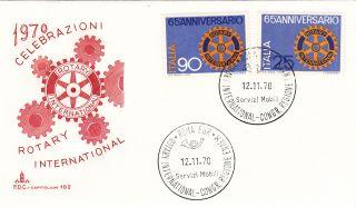 (22921) Italy Fdc - Rotary International 1970 photo