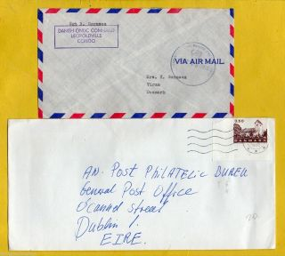 Denmark 1962 Air Mail,  Danish Onuc Command,  Leopoldville Congo (sgt N Gormsen) photo