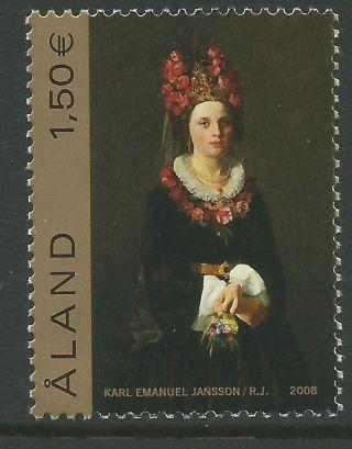 Finland Aland 2008 - Peasant Bride By Jansson Painting Fine Art - Sc 279 photo