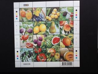 Malta 2007 M/s Maltese Fruits Unmounted Sc No 1279 photo