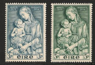 Ireland 151 - 152 Vf - 1954 Mirian Year photo