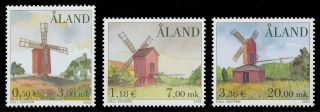 Finland - Aland Islands 2001 Scott 188 - 190 Windmills photo