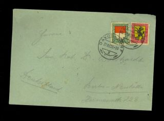 1924 Switzerland Cover Davos Dorf Neukolln Berlin Germany Years 12 - 31 - 24 R11 photo