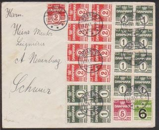 Denmark 1941 Wwii Cover With German Censor Strip & H/s In Pink,  To Switzerland photo