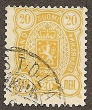 Finland Scott 41,  Arms Of The Republic, ,  1892 photo