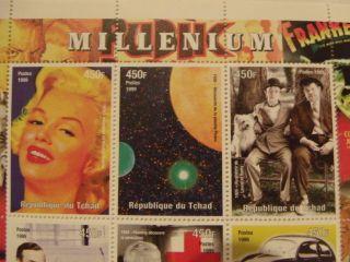 Republique Du Tchad - Millenium 1999 Stamp Sheet - photo