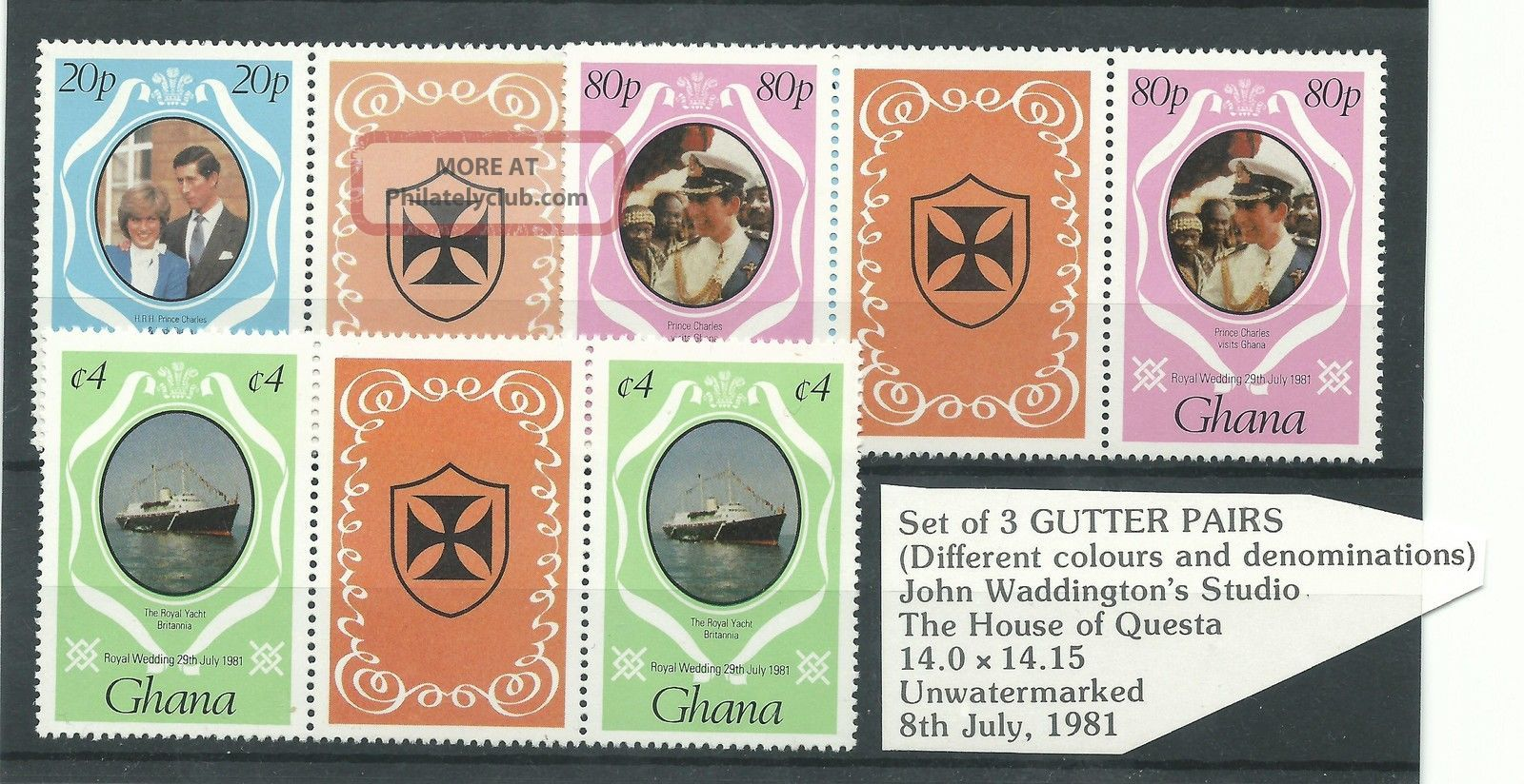 Ghana - 1981 - Gutter Pairs - Charles & Diana Wedding - Umm Africa photo