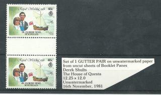 Zil Eloigne Sesel Seychelles - 1981 - Gutter Pair - Charles & Diana Wedding photo