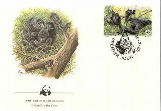 (72396) Fdc Wwf - Rwanda - Gorilla - 1985 photo