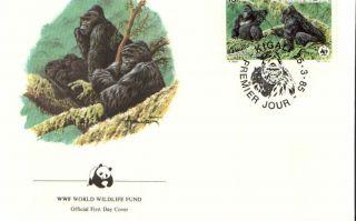 (72397) Fdc Wwf - Rwanda - Gorilla - 1985 photo