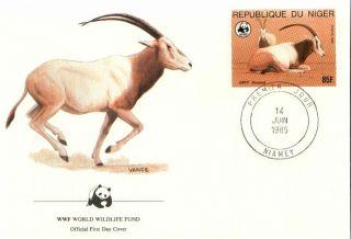 (72429q) Fdc Wwf - Niger - Antelope - 1985 photo