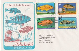 (28149) Malawi Fdc Fish Of Lake Malawi - 4 October 1977 photo