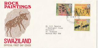 (28151) Swaziland Fdc Rock Paintings - 8 August 1977 photo