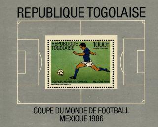 K938 Togo 1986 Sg.  Ms1889 World Cup Football Mexico photo