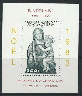 Rwanda 1983 Sc 1166 Christmas Raphael photo