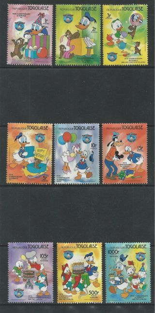 Togo 1230 - 1238 Disney Donald ' S 50th Anniversary photo