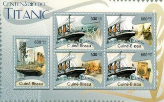Guinea - Bissau Guine - Bissau 2013 Titanic 5v M/s Cent Sinking Boats Ships photo
