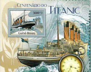 Guinea - Bissau Guine - Bissau 2013 Titanic 1v S/s Cent Sinking Boats Ships photo