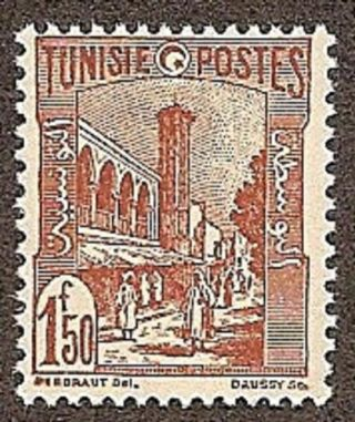 Tunisia Scott 153,  Mosque At Tunis, ,  Fg,  Nh,  1942 photo