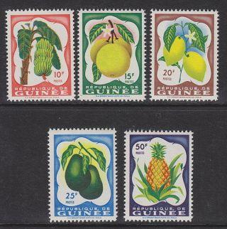 Guinea - 1959 Fruits (5v) Umm / photo
