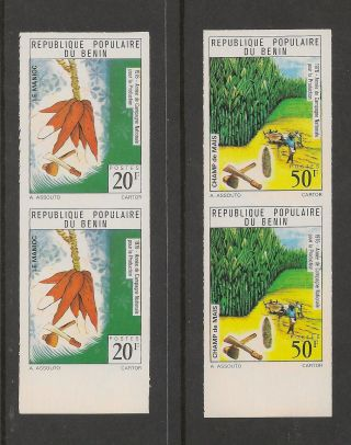 Benin 357 - 360 Vf Imperf Pairs - 1976 20fr To 120fr Agriculture photo