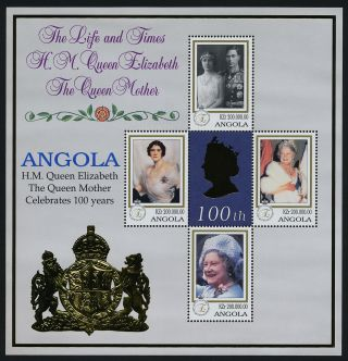 Angola 1086 - 7 Queen Mother 100th Birthday photo