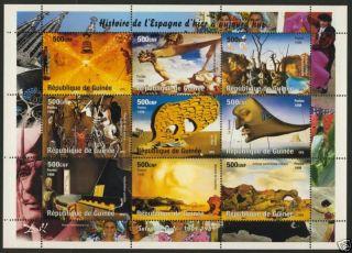Guinea Salvador Dali,  Paintings,  Horse,  Birds photo