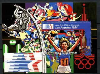 Chad 1982 Sg Ms623 Olympic Games M/s A31972 photo
