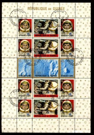 Guinea 1965 Sg Ms499 Space,  Astronauts Cto M/s S448 photo