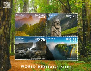 Ghana 2013 Unesco World Heritage Site I 4v M/s Victoria Falls Redwood Park photo
