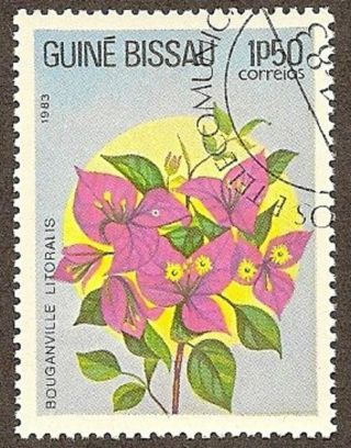 Guinea Bissau Scott 518,  Bouganville Litoralis Flower, ,  1983 photo