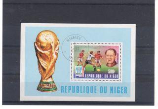 Niger = 1977 Fifa World Cup 500f Fine Sheet. photo