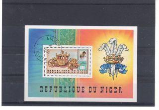 Niger = 1981 Royal Wedding Fine Sheet. photo