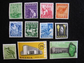 Nigeria - Scott 101 - 111 - Ss - Mh - Cat Val $7.  05 photo