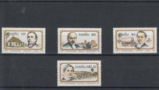 Namibia 1995 125th Anniv Finnish Missionaries Sg 667 - 70 4v Martii Rautanen photo