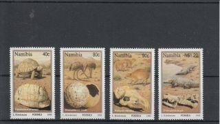 Namibia 1995 Fossils Sg 663 - 6 4v Tortoise Diamond Bird Hyraxes Crocodiles photo