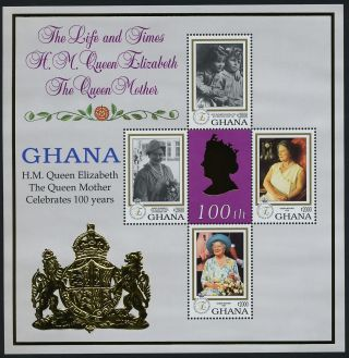 Ghana 2124 - 5 Queen Mother 100th Birthday photo