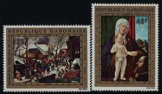 Gabon C132 - 3 Christmas,  Art photo