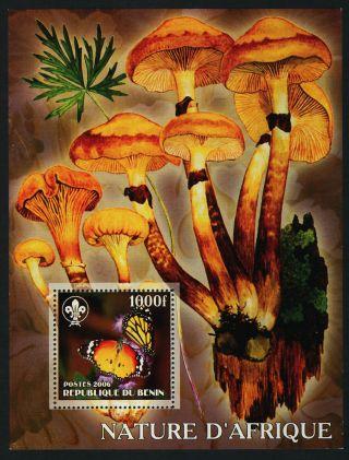 Benin S/s Butterfly,  Mushroom,  Scouts photo