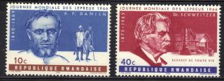 Rwanda Stamp Scott 143 & 145 Stamp See Photo photo