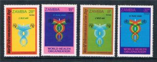 Zambia 1981 Telecoms & Health Day Sg 333/6 photo