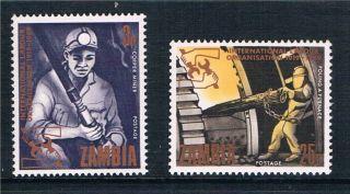 Zambia 1969 50th Anniversary Of Ilo Sg 145/6 photo