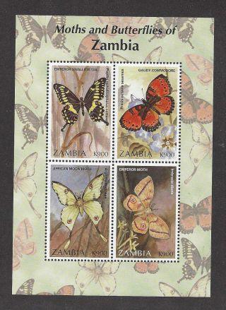 Zambia 683 Souvenir Sheet - Butterflies photo