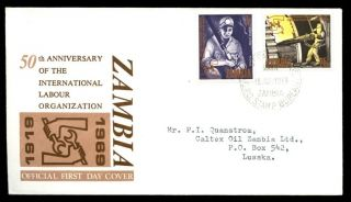Zambia 1969 Labour Organisation Fdc C6481 photo