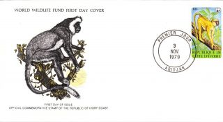 World Wildlife Fund First Day Cover - The Ivory Coast - Colobus Monkey No 143 photo