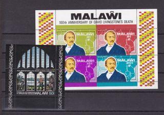 Malawi 207a 208a Dr Livingston Vf S/s photo