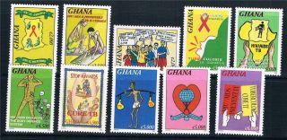 Ghana 2006 Hiv/aids Sg 3485/94 photo